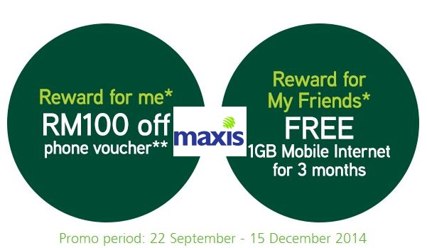 Maxis Member Get Member Rewards